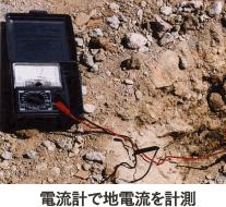 電流計で地雷流を計測